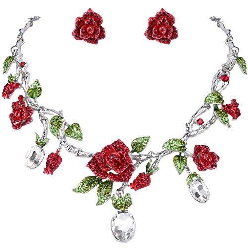ever faith silver-tone rhinestone crystal hermosa flor de ro