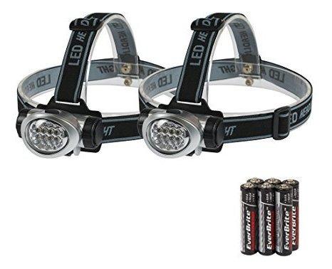 everbrite 2-pack linterna de faros para correr, acampar, lee