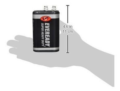 eveready batería de 6 voltios linterna 1209