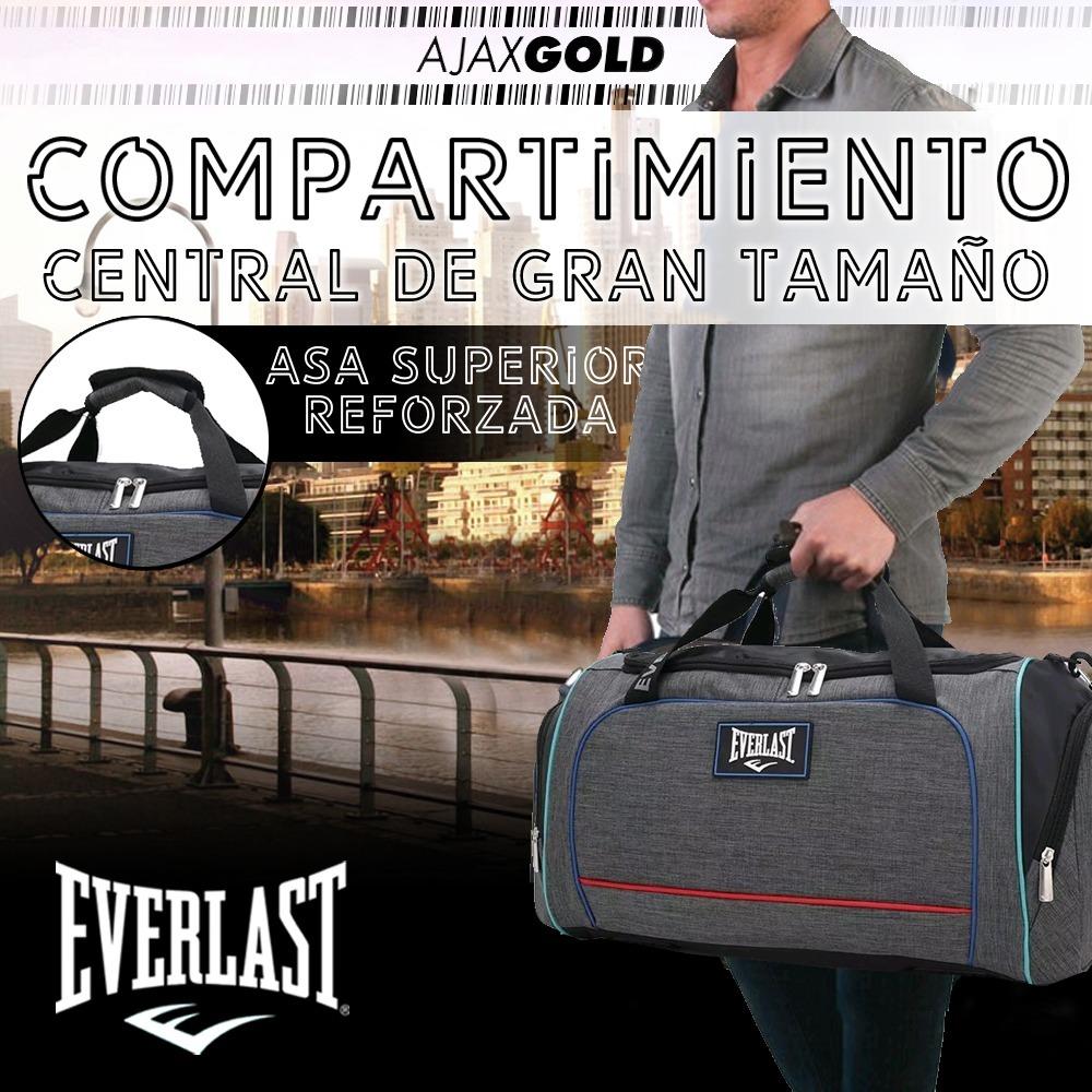 Bolso Everlast 26213 Deportivo Reforzado Gym Original Grande ... d17515eadb7d9