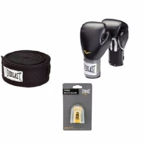 everlast-pack box - vendas de algodón negro + protect + guan