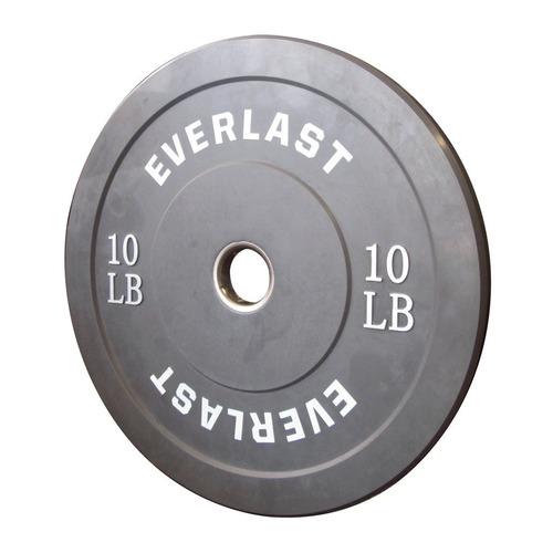 everlast pesa bumper plate 10 libras - barulu