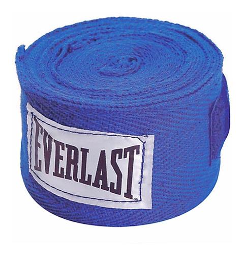 everlast - venda de algodon - 304 cm - azul