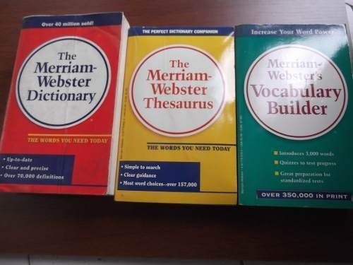 every day reference set dictionary vocabulary thesaurus 3vol