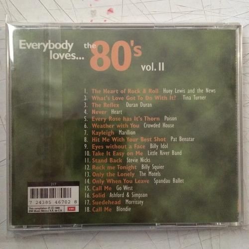 everybody loves:the 80's vol. ii (cd,1996) heart, poison maa