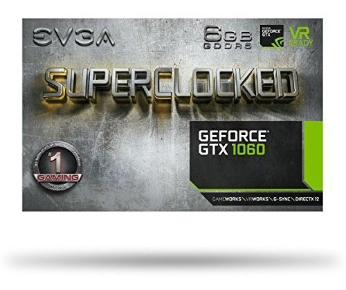 evga geforce gtx 1060 sc gaming, acx 2.0 (ventilador individ