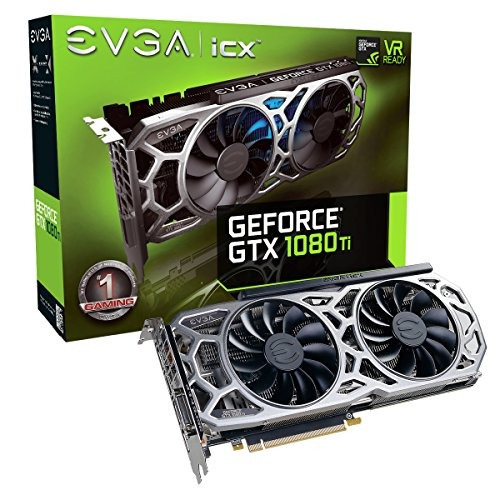 evga geforce gtx 1080 ti sc2 gaming, 11 gb gddr5x,