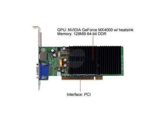 evga geforce mx4000 128-p1-nv94 128mb 64-bit ddr