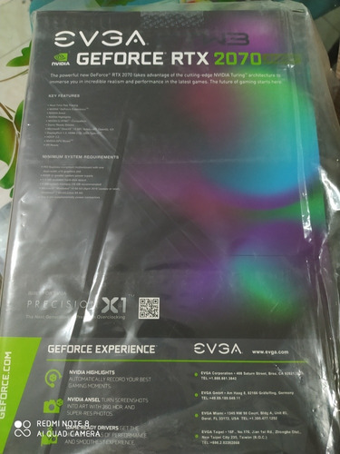 evga geforce rtx 2070 super ftw3 gaming. 8g gddr6.