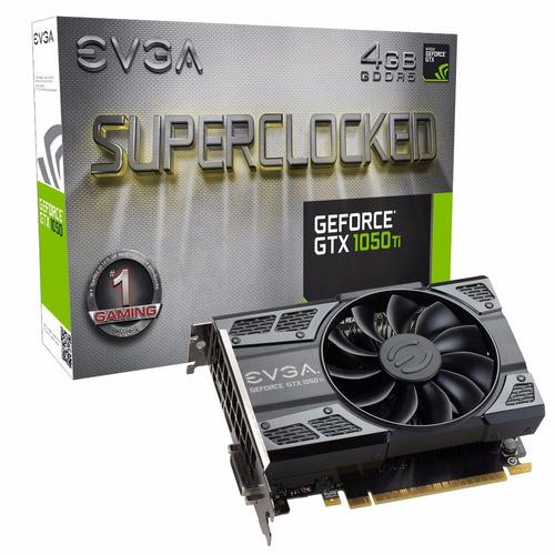 evga superclocked gtx1050 ti 4gb gddr5 mod. 04g-p4-6253-kr