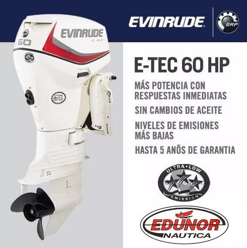 evinrude e-tec 60 hp ecológico - consulte desc. edunor