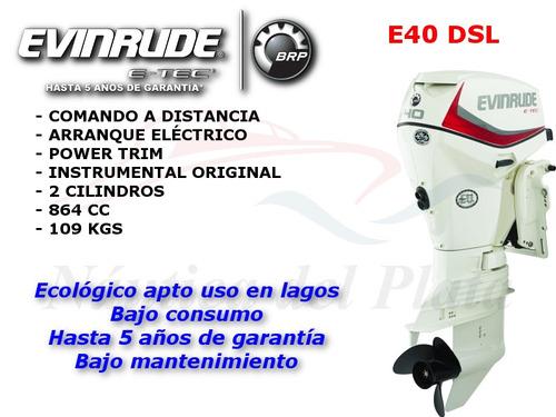 evinrude etec 40 hp distribuidor oficial nautica del plata