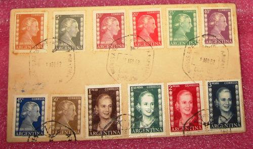 evita peronismo sobre sellos peron 1952 su muerte