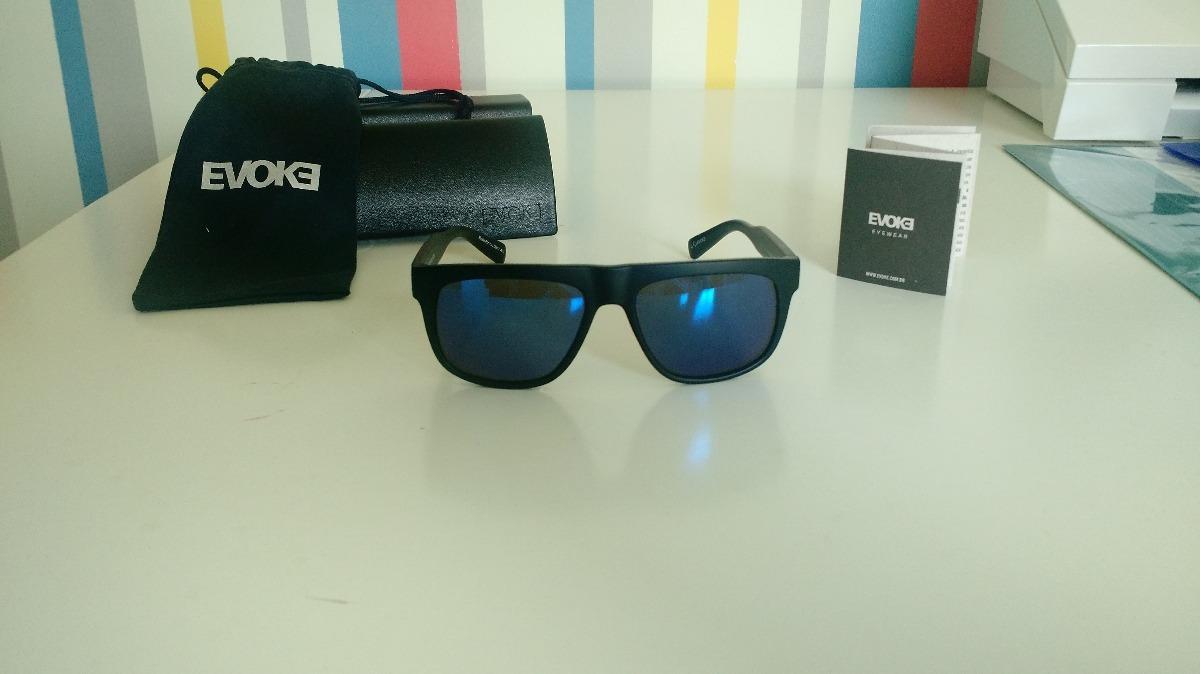 Evoke For You Ds13 - Óculos De Sol A01 Black Matte  Blue Esp - R ... 79d4b6f483