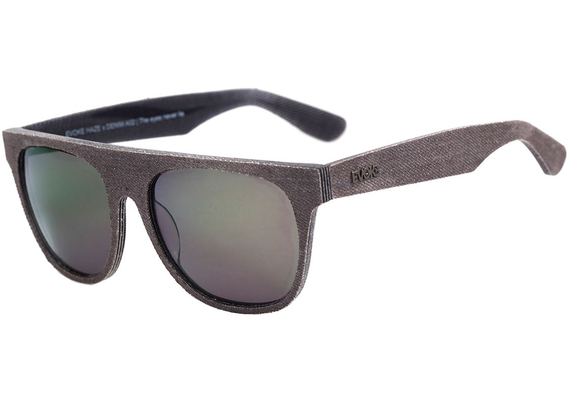 6a8b6db4cda21 evoke haze x denim - óculos de sol a02 cinza fosco  dourado. Carregando  zoom.