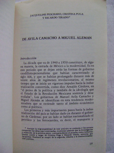 evolución del estado mexicano. 3. consolidación 1940-1983