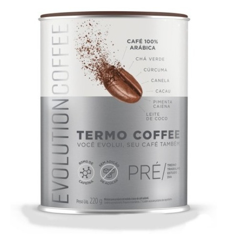evolution coffe café termogênico arábica - 220g original