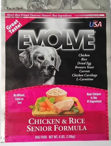 evolve classic perros senior chicken pollo mayores 13.6kg