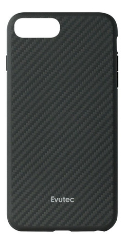 evutec carcasa carbón con soporte de auto para iph 6+/7+/8+