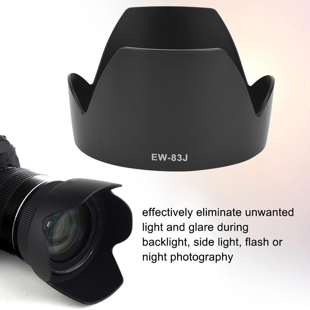 EW-83J Parasol para Canon EF-S 17-55 mm f2.8 IS USM Lente EW-83J