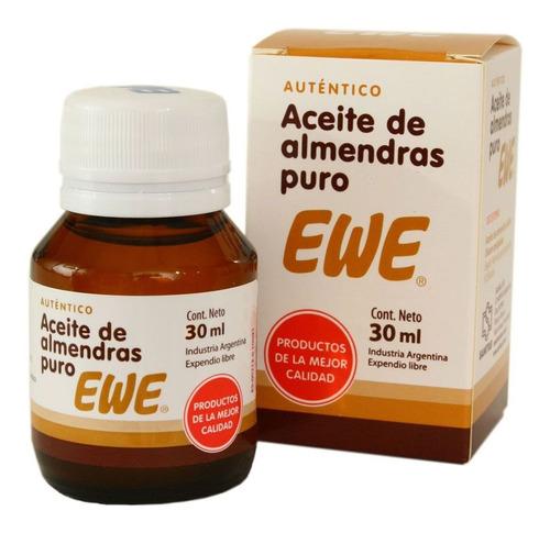 ewe aceite de almendras 30ml hidrata suaviza piel cabello
