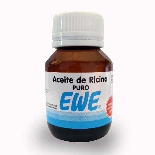 ewe aceite de ricino laxante cuida pestañas cejas x 30 ml - $ 99,00
