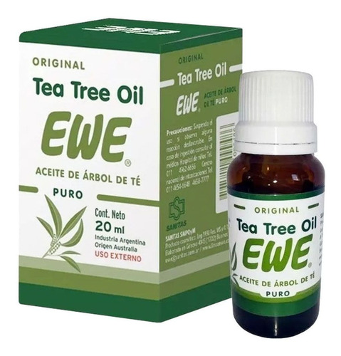 ewe aceite de tea tree oil 20ml propiedades cicatrizantes