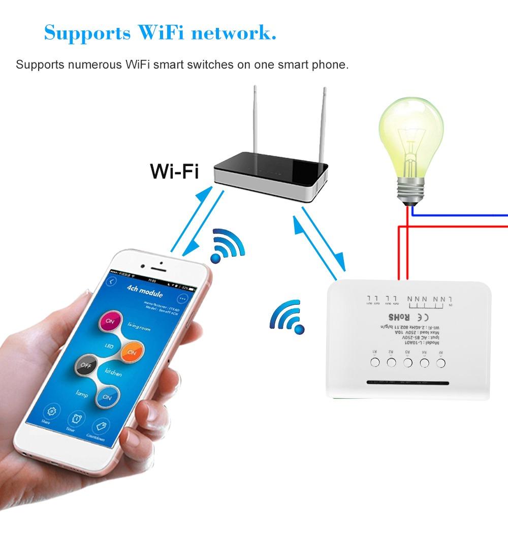 eWeLink Control Remoto Inal/ámbrico Universal 433MHz 4 Botones EV1527 Clave Transmisor RF Interruptor de Control Remoto 2 Paquetes