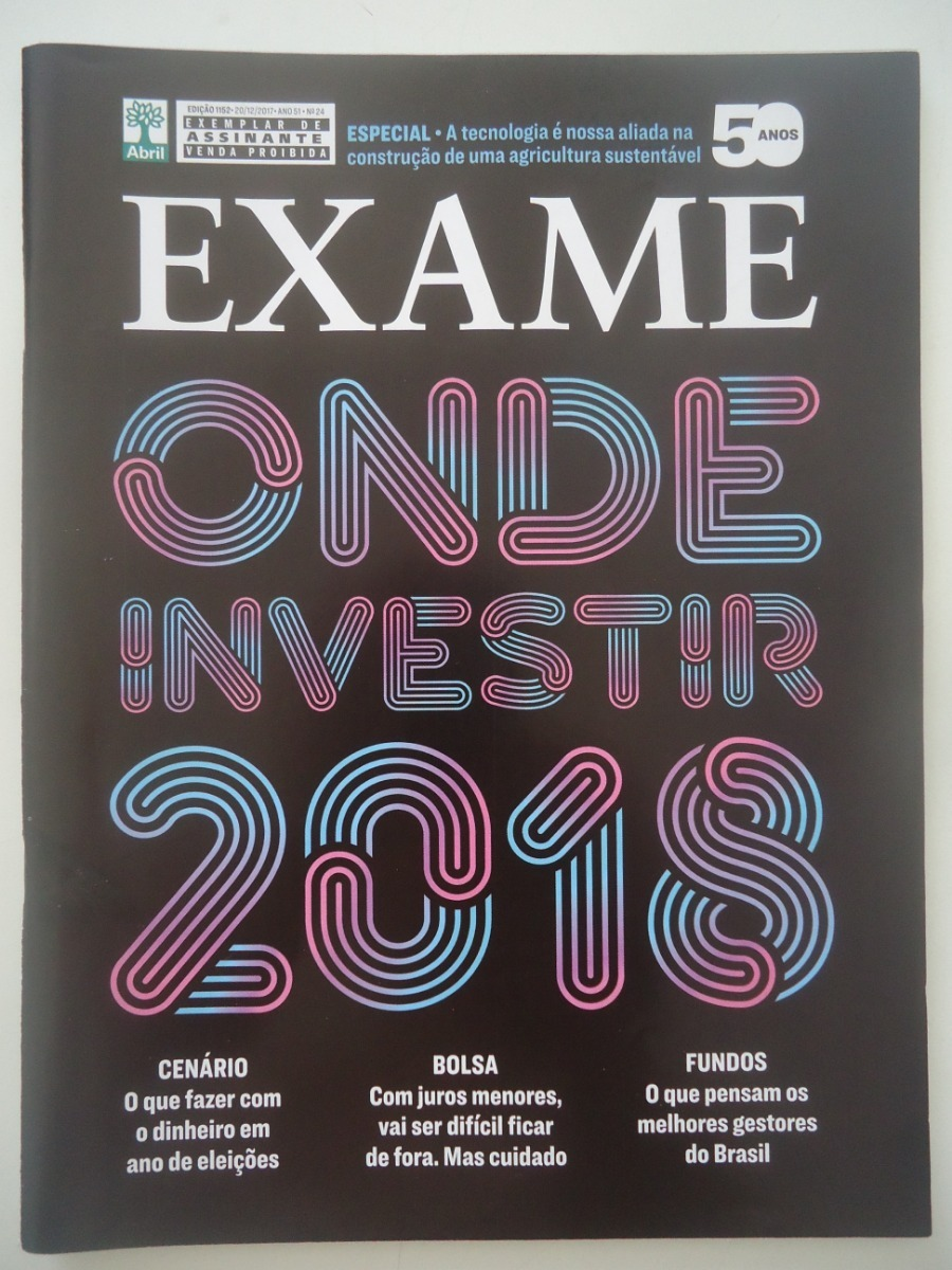266cb8d5d Exame #1152 Dez-2017 Onde Investir Em 2018 - R$ 21,90 em Mercado Livre