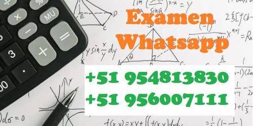 exámenes universitarios mediante whatsapp