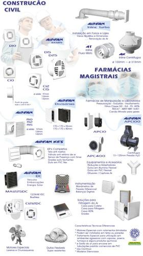 exaustor airfan c15 rh - para banheiro e ambientes ø 150mm