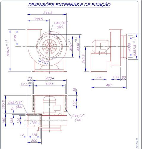exaustor centrifugo motor 3cv blindado ventilador ventisilva