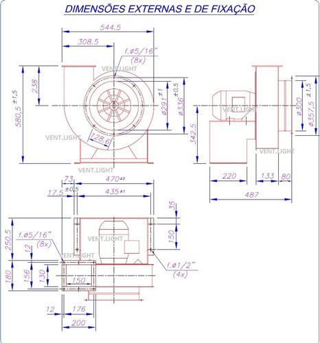 exaustor centrifugo motor blindado ventisilva ec2 bifásico