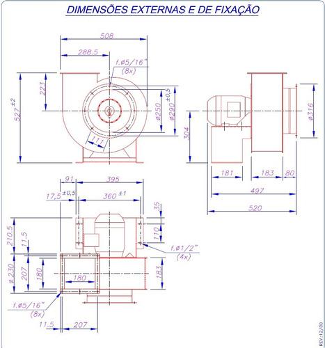 exaustor centrifugo motor siroco ec2tn ventilador ventisilva