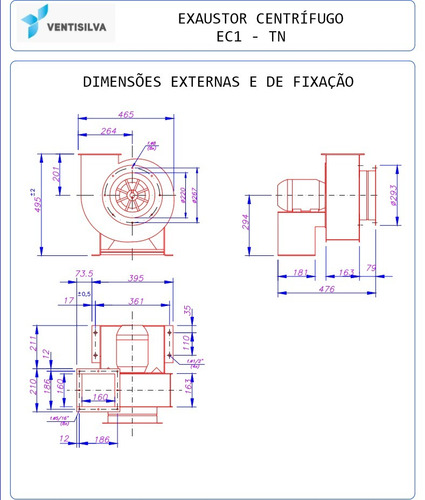 exaustor industrial centrífugo monofásico ec1 tn em oferta