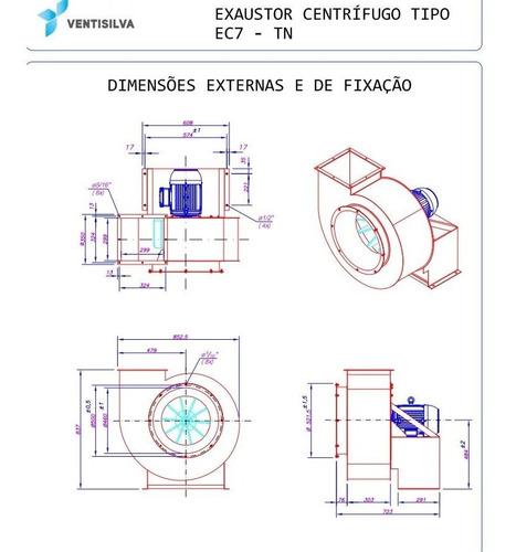 exaustor industrial centrífugo ventisilva trifásico ec7 tn