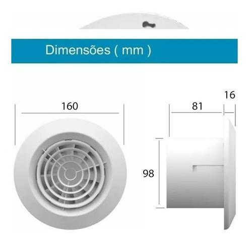 exaustor para banheiro/lavabo - vceb18 - 127/230v
