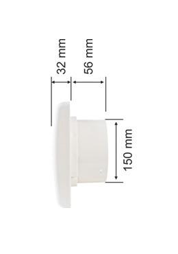 exaustor ventisol para banheiro ambientes 150mm frete gratis