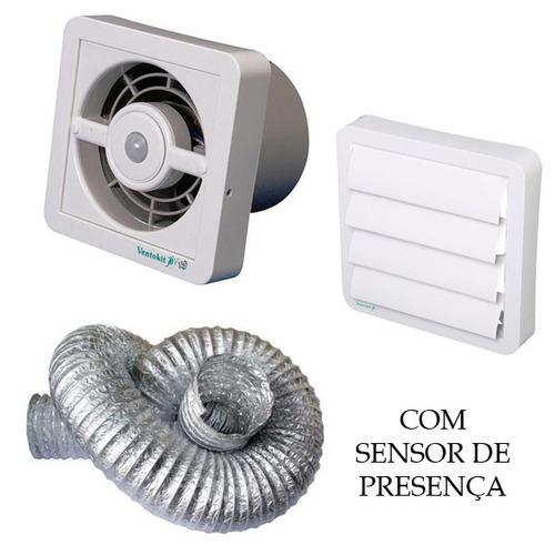 exaustor/renovador ar ventokit c150 d sensor presença + duto