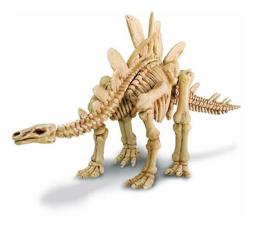 excava un estegosaurio