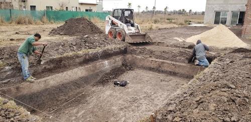 excavaciones de piletas, hoyadora, cimientos
