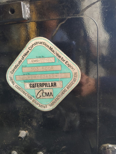 excavadora caterpillar 303.5 año 2012