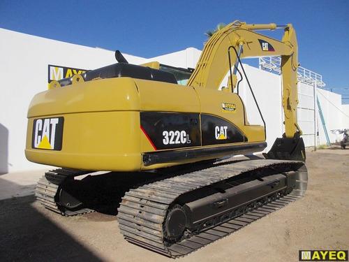 excavadora caterpillar 322cl 2004 cabina con clima 8000 hora