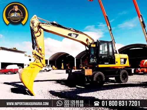 excavadora caterpillar m316d sobre neumáticos