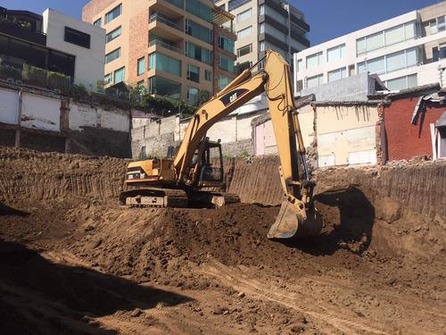 excavadora, derrocamientos de casas, desalojos, desbanques