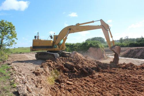 excavadora, excavadora, retro