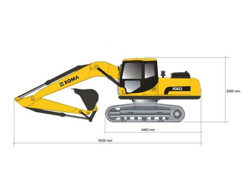 excavadora hidraulica xgma 22 tonelada consultar por precio