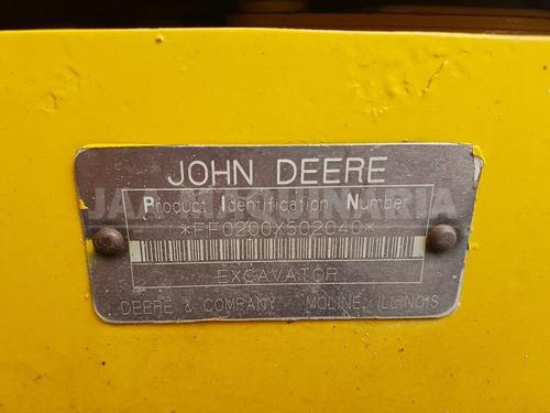 excavadora john deere 200lc año 2003