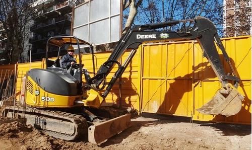 excavadora john deere 50d año 2013 rops