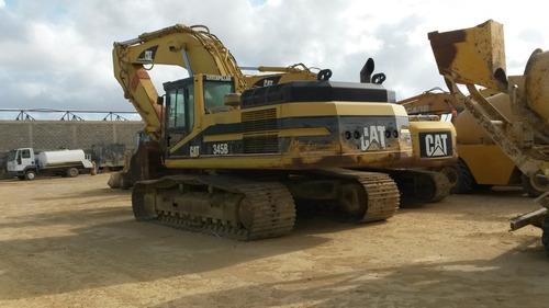excavadora (jumbo) caterpillar modelo 345b año 2004